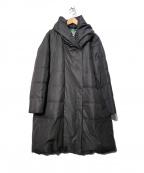 TOKUKO1erVOL(トクコプルミエヴォル)の古着「ハイマルチマットタフタ ロングダウンコート」 ブラック