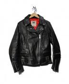 666(トリプルシックス)の古着「LJW-1 サイドベルトライダースジャケット」|ブラック