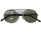 KANEKO OPTICAL(金子眼鏡)の古着「単式跳ね上げフレーム サングラス」|シルバー×ブラック