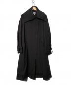 TOKUKO1erVOL(トクコプルミエヴォル)の古着「ジップロングコート」 ブラック