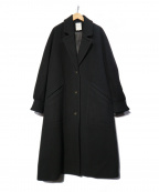 ROSE BUD(ローズバッド)の古着「袖ボリュームウールコート」 ブラック