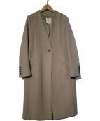 B:MING LIFE STORE(ビーミングライフストア)の古着「ボンディングコート ノーカラーコート」|グレー