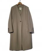 B:MING LIFE STORE(ビーミングライフストア)の古着「ボンディングコート ノーカラーコート」 グレー