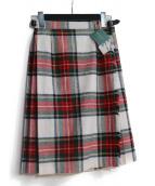 ONEIL OF DUBLIN(オニール オブ ダブリン)の古着「EASY KILT キルトラップスカート」|レッド×ホワイト