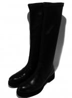 FABIO RUSCONI(ファビオルスコーニ)の古着「ストレッチロングブーツ」|ブラック