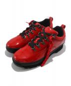 ()の古着「Patent Leather Euro Hiker Low 」|レッド