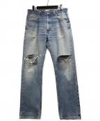 LEVI'S(リーバイス)の古着「USA製505ダメージデニムパンツ」|インディゴ