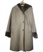 Rouge vif(ルージュヴィフ)の古着「エコムートンコート」 グレー