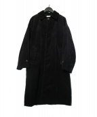 FREAKS STORE(フリークスストア)の古着「ビッグシルエット コーデュロイステンカラーコート」 ブラック