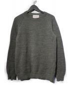Vincent et Mireille(ヴァンソンエミレイユ)の古着「8ゲージタッククルーネックセーター」|グレー