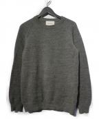 VINCENT ET MIREILLE(ヴァンソンエミレイユ)の古着「8ゲージタッククルーネックセーター」 グレー
