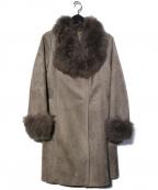 VICKY(ビッキー)の古着「受注会限定フェイクムートンコート」 ライトグレー