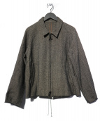 bukht(ブフト)の古着「COTTON WOOL TWEED ジャケット」 グレー