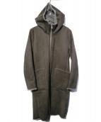 NO ID.(ノーアイディー)の古着「フェイクムートンリバーシブルフーデッドコート」|グレー