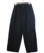 VINCA TOKYO(ヴィンカトーキョー)の古着「ヘビーコットンパンツ」 ブラック