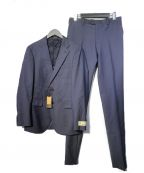 COMME CA MEN(コムサメン)の古着「CERRUTI生地ジェノバセットアップ2Bスーツ」|ネイビー