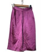 ()の古着「サテンタイトスカート」 ショッキングピンク