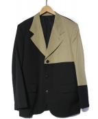 Ys(ワイズ)の古着「ドッキングテーラードジャケット」 ブラック×ベージュ