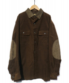 Burberrys(バーバリーズ)の古着「裏ノヴァチェックコーデュロイシャツジャケット」|ブラウン