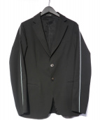 EMPORIO ARMANI(エンポリオアルマーニ)の古着「19AW ライン ストレッチジャケット」|ブラック