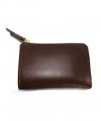 corbo(コルボ)の古着「小銭入れ付きL字ファスナー式二つ折り財布」 ブラウン