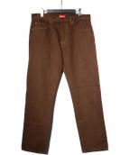 Supreme(シュプリーム)の古着「19SS washed regular jeans 」|ブラウン