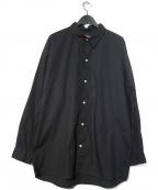 MASSES(マシス)の古着「バックプリントレギュラーカラーシャツ」|ブラック