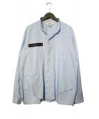 SUNSEA(サンシー)の古着「EXPLORATION SHIRT シャツ」|スカイブルー
