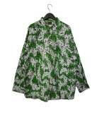 MASSES(マシス)の古着「SPLASH SHIRTS スプラッシュシャツ」|ホワイト×グリーン