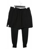 DESCENDANT(ディセンダント)の古着「18AW CLIFF LAYERED SHORTS パンツ」|ブラック