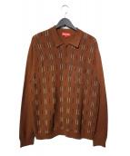 Supreme(シュプリーム)の古着「18AW Vertical Stripe Knit L/S 」|ブラウン