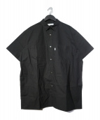 Graphpaper(グラフペーパー)の古着「Stretch Typewriter S/S ボックスシャツ」 ブラック