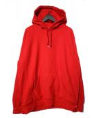 SUPREME(シュプリーム)の古着「Micro Logo Hooded Sweatshirt」|レッド