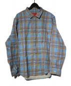 Supreme(シュプリーム)の古着「20SS  Printed Plaid Shirt シャツ」|ネイビー