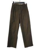 COMME des GARCONS HOMME(コムデギャルソンオム)の古着「2タックワイドパンツ」 ブラウン