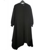 ENFOLD(エンフォルド)の古着「スムースフレアワンピース」|ブラック