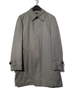 PS Paul Smith(ピーエスポールスミス)の古着「キルティングライナー付ステンカラーコート」|ホワイト×ブラック