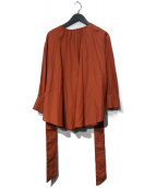 ()の古着「2wayテントラインロングシャツ」 ブラウン