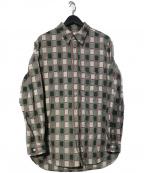 KUON(クオン)の古着「吉野格子グラデーションシャツ」|グリーン