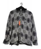 ()の古着「Hooded Shadow Plaid Shirt」|ブラック