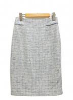 MACKINTOSH LONDON()の古着「ツイードスカート」 スカイブルー