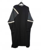 FRAPBOIS(フラボア)の古着「フラッグカットワンピース」 ブラック