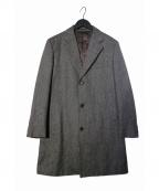 J.PRESS(ジェイプレス)の古着「ヘリンボーンチェスターコート」|グレー