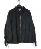 .efiLevol(エフィレボル)の古着「スエードブルゾン ジャケット」|ブラック