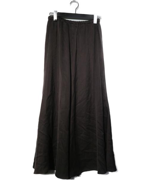 Plage(プラージュ)Plage (プラージュ) FibrilSlitスカート ブラウン サイズ:38 20AW 20060922119020の古着・服飾アイテム