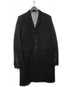 SHAREEF(シャリーフ)の古着「CHESTER COAT チェスターコート」 ブラック