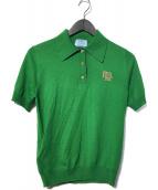 PRADA(プラダ)の古着「ロゴポロシャツ」|グリーン