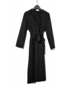 PLST(プラステ)の古着「ウールブレンドリバーコート」 ブラック