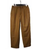 STILL BY HAND(スティルバイハンド)の古着「saxony relax pants サキソニーイージーパン」 ブラウン