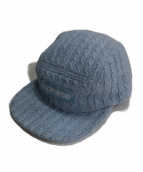 Supreme(シュプリーム)の古着「Fitted Cable Knit Camp Cap」 ライトブルー